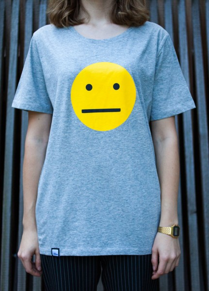 "FM4 T-Shirt ""Smiley / Grau"""