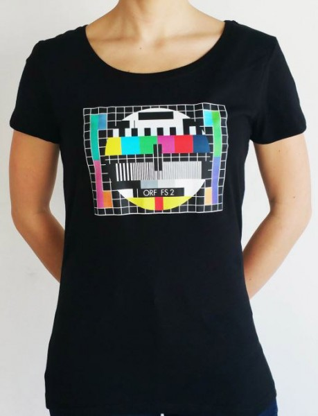 ORF Shirt (Damen) - schwarz, Testbild bunt