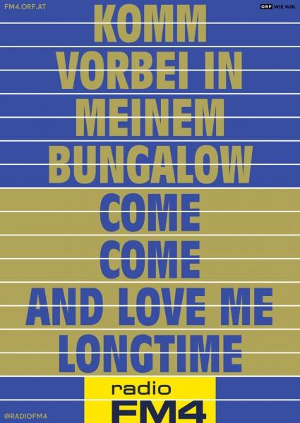"""Wendeplakat """"Bungalow"""""""