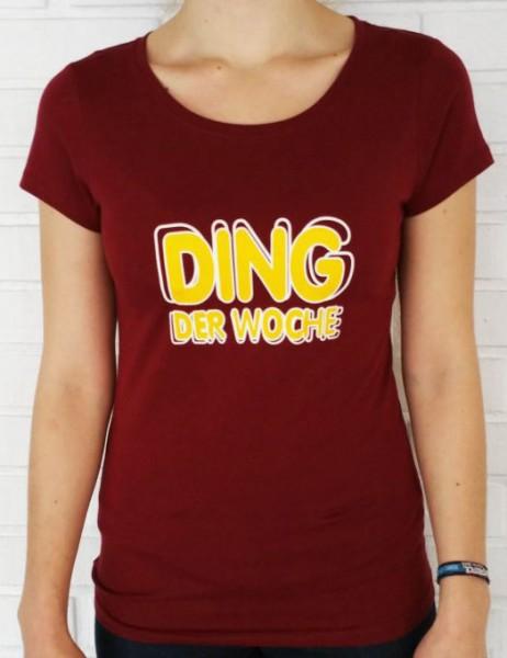 """Was gibt es neues T-Shirt """"Ding der Woche"""" ROT (Damen)"""