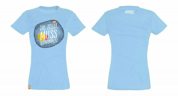 Fit mit Philipp T-Shirt blau (Damen)