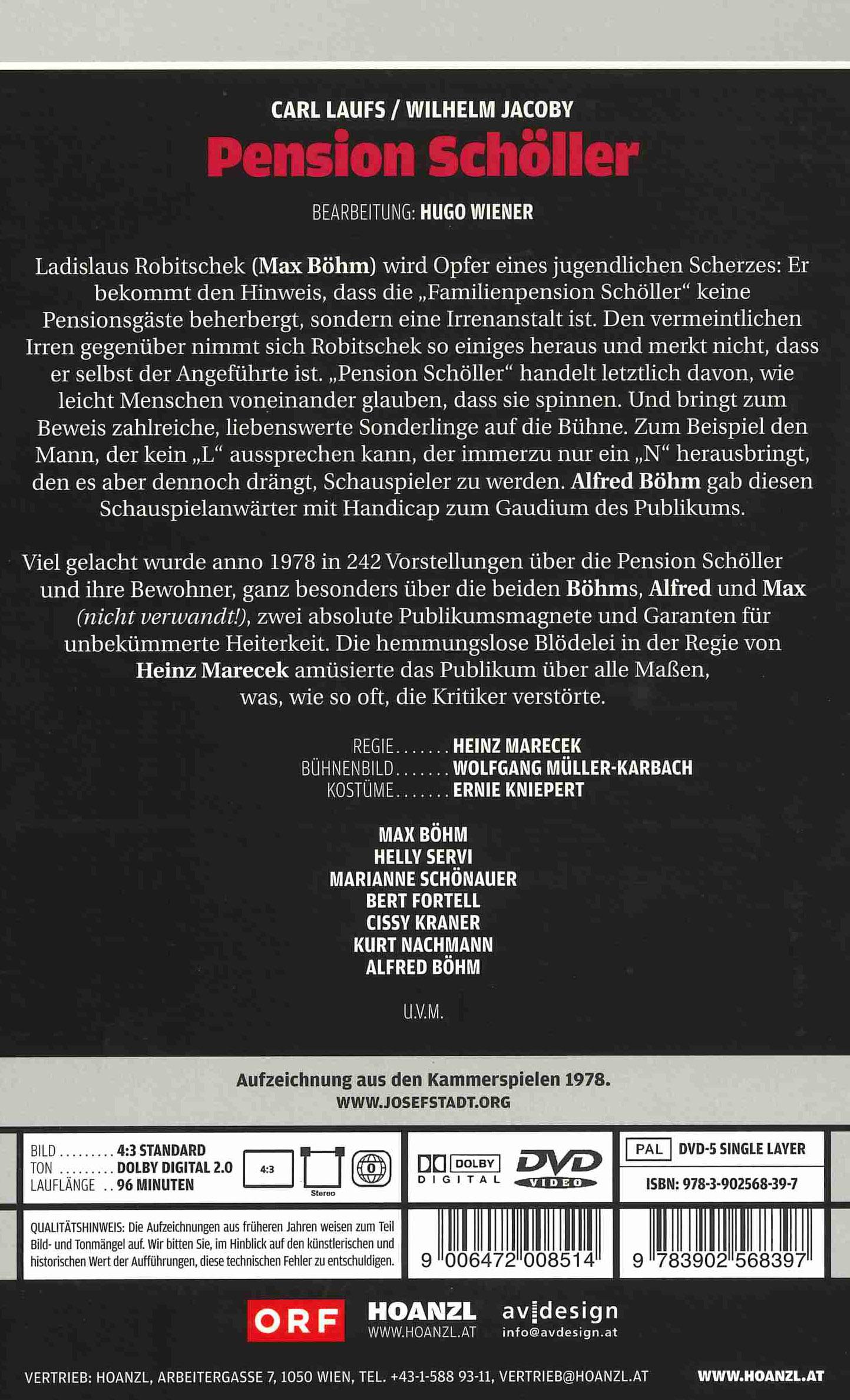 09 Pension Schöller Edition Josefstadt Dvd Orf Shop