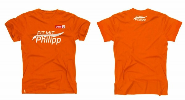Fit mit Philipp T-Shirt orange (Kinder) 122-128