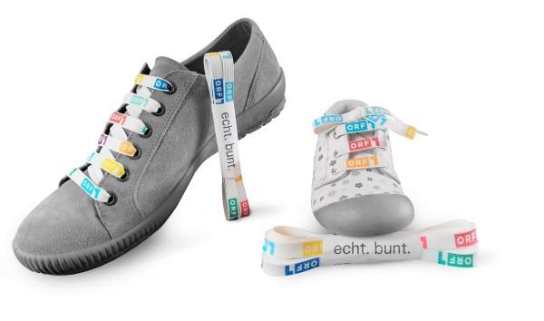 ORF-Schuhbänder bunt