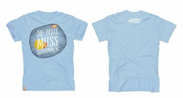 Fit mit Philipp T-Shirt blau (Herren)