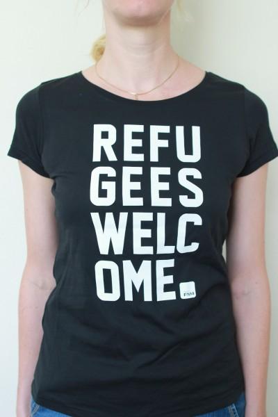 """FM4 T-Shirt """"Refugees Welcome"""" (Damen)"""