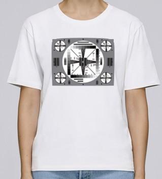 ORF Shirt (Damen) -weiß, Testbild schwarz/weiß