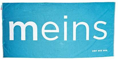 """ORF Badetuch """"MEINS"""" (blau)"""