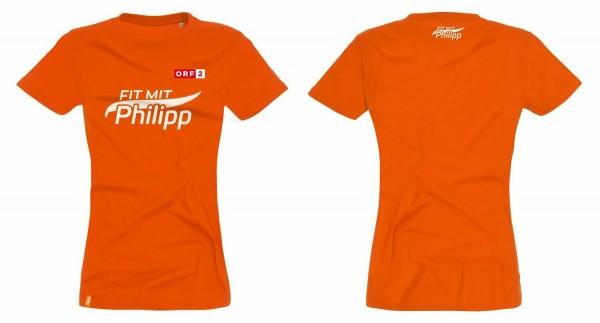 Fit mit Philipp T-Shirt orange (Damen)