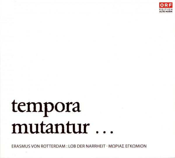 tempora mutantur ...