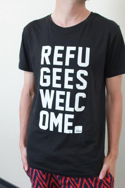 """FM4 T-Shirt """"Refugees Welcome"""" (Herren)"""