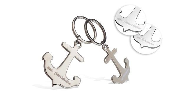 Liebesgschichten: Anker-Schlüsselanhänger