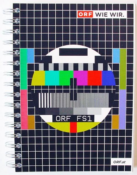 """ORF Notizblock """"Testbild bunt"""" (kariert)"""